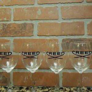 CREED Perfume House RARE Set 4 Wine Glasses 1760